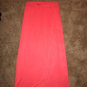 NWT!! Coral Pink Maxi Skirt
